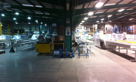 Deceuninck Calne – Installation of low energy T5 lighting