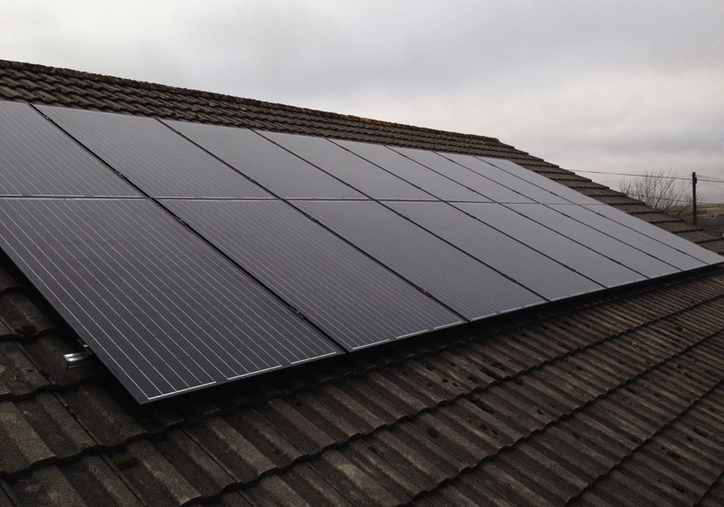 All Black Solar Panels Newport, South Wales